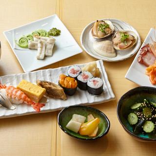 江戸前寿司をお手頃価格で楽しめるコースは5,500円~