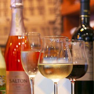 ワインはブラジル産のみをセレクト。名だたる銘柄も勢揃い!