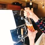 こひのぼり - 自分でビールを注ぐスタイル