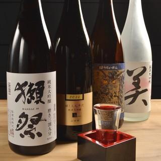 ◆獺祭や九平次などプレミア酒も含め日本酒は500円でご提供♪