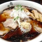 肉そば総本山神保町けいすけ - 生姜香る醤油。