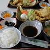 山田サービスエリア(下り線)レストラン グリーンキッチン - 料理写真:秋月古処鶏の鶏天定食