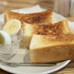 cafe なかちよ - トーストSET。
