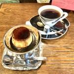 モトマチ喫茶 - 自家製カスタードプリン&ブレンド