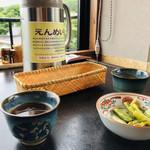 山口屋 - 料理写真:野沢菜のお漬物が付いてきます