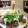 Brasserie MORI - 料理写真:ハラミステーキ&サラダ