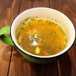 ドムジンスパイスカフェ - 料理写真:スープ付き