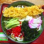 きくや食堂 - 料理写真:冷天ぷらうどん 800円+大盛り100円