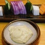 大衆酒場 YATSU the CAFE - スティックサラダ(アンチョビマヨ)