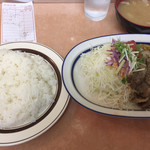 洋庖丁 - 料理写真:からし焼肉ランチ 並