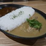 コスギカレー - 野菜メインの旨すぎ和ジアン(チキン、ナス、たけのこ)の側のアップ