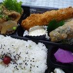 ぞうさん弁当 - 料理写真:焼肉エビフライMIX弁当