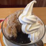 コメダ珈琲 - カフェオレ&ゼリー・ソフト氷760円