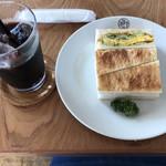 BON POINT CARDIN - Aセット    卵サンドとアイスコーヒー