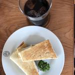 BON POINT CARDIN - クロックムッシュとアイスコーヒー