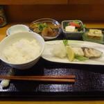 たけ美 - サワラ塩焼き定食1,200円