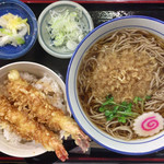 そば茶屋風の坊 - 料理写真:「お好みセット(ミニ海老天丼+たぬきそば)」@850+「そば大盛り」@220