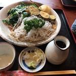 山 - 料理写真:限定 ニラ大根蕎麦¥850