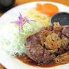 Sumiyoshi - 料理写真:元祖ガーリックステーキちょっと大きめ。