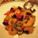 湖陽樹 - 海老と鶏ムネ肉の辛味炒め