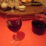 湖陽樹 - 赤ワインもいただきました