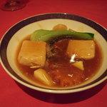 湖陽樹 - 豆腐と蟹肉のオイスターソース煮込み
