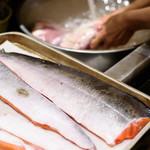 ブラッスリーセルクル - 新南樽市場で仕入れる魚