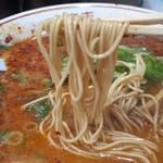 110601806 - ピリ辛中華そば。細麺をチョイス
