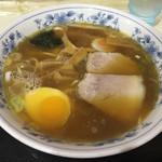 所沢 大勝軒 - 中華そば(小)…これだと麺沈んじゃって見えないね…