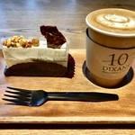 110614147 - カマンベールチーズのケーキ&カフェラテ