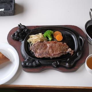 田舎もん - 料理写真:鉄板ステーキ ガーリック醤油