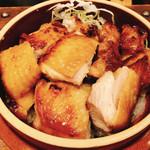 山がや - 料理写真:プレミアム地鶏  釜飯定食 プラス400円