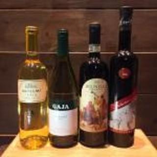 ワインは当店ソムリエのセレクト