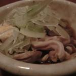 あまからくまから - 「佐助豚の酢もつ」:臭みが無く、コリコリとした食感はもちろん!上品な旨み♪
