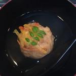 花れんこん - 椀物は南瓜饅頭