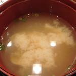 山喜鮨 - 味噌汁