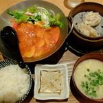 """鶴亀飯店 - """"特選海老チリSET"""""""