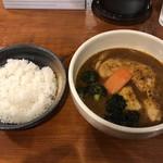 かれー屋ひろし - チキンスープカレー(辛さ2 ライス少なめ) ブロッコリー増しバージョン