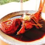 赤沢日帰り温泉館レストラン - 金目鯛の煮付け