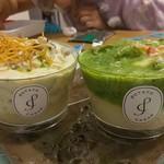 Potato Cream - 海老ときのこのマスタードポテトクリーム、アスパラとベーコンのジェノベーゼポテトクリーム