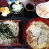 松月庵 - 料理写真:かつ丼とそば