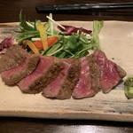 魚楽 - 「雫石牛の和風ステーキ」