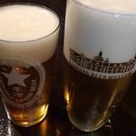 サッポロビール博物館 - ツアー限定 復刻札幌製麦酒 (´∀`)/ サッポロ黒ラベル 泡が多い 苦笑