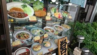 冨士久食堂  - 昭和レトロなショーケース!どれも美味しそうだぁ!
