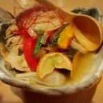 Umemiduki - 本日の魚(ブリ)と野菜の冷やし南蛮漬け