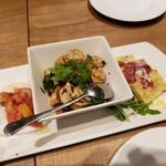 BRUNO - 帆立の香草マリネ他前菜3種2019.06.27
