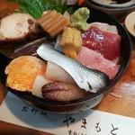 お料理やまもと - ランチ数限定、海鮮丼1080円