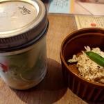 110673084 - ヤングコーンと鶏ムネのジャーサラダ、若鶏とインゲンのガーリックマヨネーズ