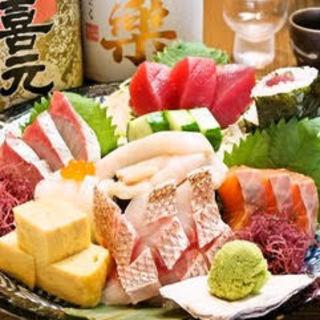 """刺身、寿司、おばんざい…全国から届く新鮮な""""旬魚""""を堪能!"""