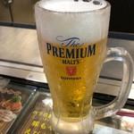 電光石火 - 生ビール 500円。